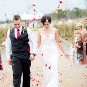 confetti, lace, wedding dress