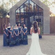 bride and bridesmaids, wedding venue