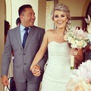 beaded, bouquet, wedding dress