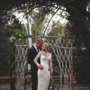arch, bride, groom