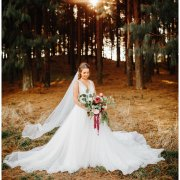 bouquets, bride, forest