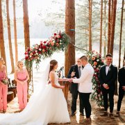 bride and groom, bride and groom, bride and groom, forest ceremony