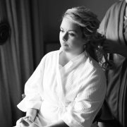 bride, hair, makeup, getting ready gown