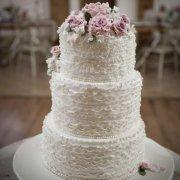 cake, blush, pink, wedding, ruffled