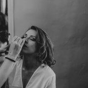 bride, getting ready, makeup, makeup