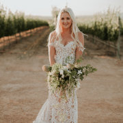 bouquet, lace, wedding dress, wedding dress