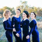 bridesmaids dresses, royal blue