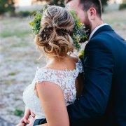bride, groom, hair