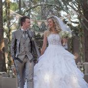 bunting, forest, suit, wedding dress, wedding dress