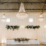 chandeliers, fairy lights, hanging decor, wedding decor